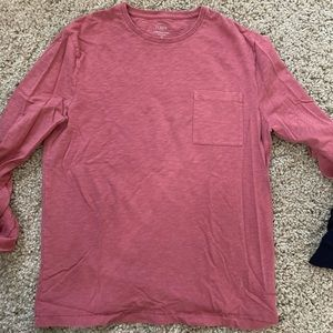 J. Crew long sleeve pocket tee